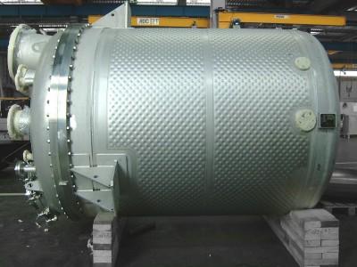 réacteur industriel à double enveloppe matelassée