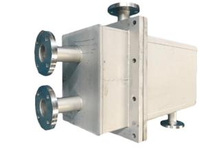 Les échangeurs à plaques soudées Compalex® conçus et fabriqués par Labbe sont équipés d'un bâti parallélépipédique.
