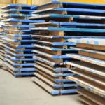Stockage des tôles dans notre atelier de chaudronnerie industrielle de 15 000 m².